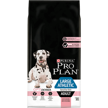 ​PURINA® PRO PLAN® Large Athletic Adult Sensitive Skin με OPTIDERMA® Πλούσια σε Σολομό