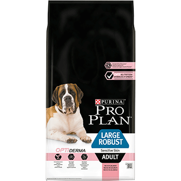 ​PURINA® PRO PLAN® Large Robust Adult Sensitive Skin με OPTIDERMA® Πλούσιο σε Σολωμό