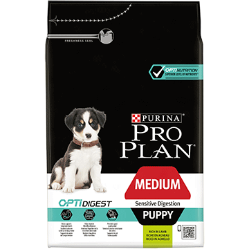 ​PURINA® PRO PLAN® Medium Puppy Sensitive Digestion με OPTIDIGEST® Πλούσια σε Aρνί