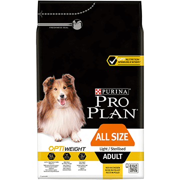 ​PURINA® PRO PLAN® All Sizes Adult Light/Sterilised με OPTIWEIGHT® Πλούσια σε Κοτόπουλο