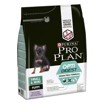 PURINA® PRO PLAN® Grain Free Formula Small& Mini Puppy Sensitive Digestion με OPTIDIGEST® Πλούσια σε Γαλοπούλα